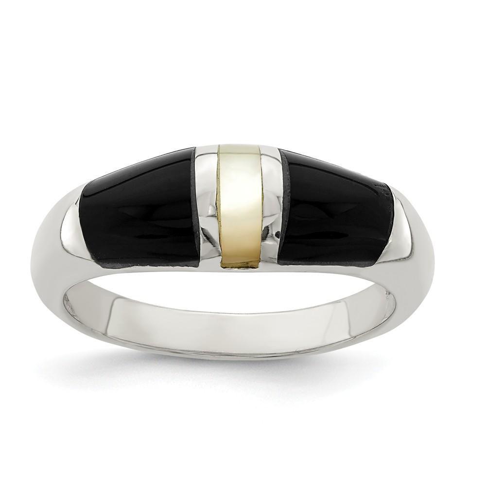 Bridal Titanium Criss-cross Design 7mm Brushed Ridged Edge Band