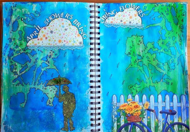 Bastelmania: April showers....