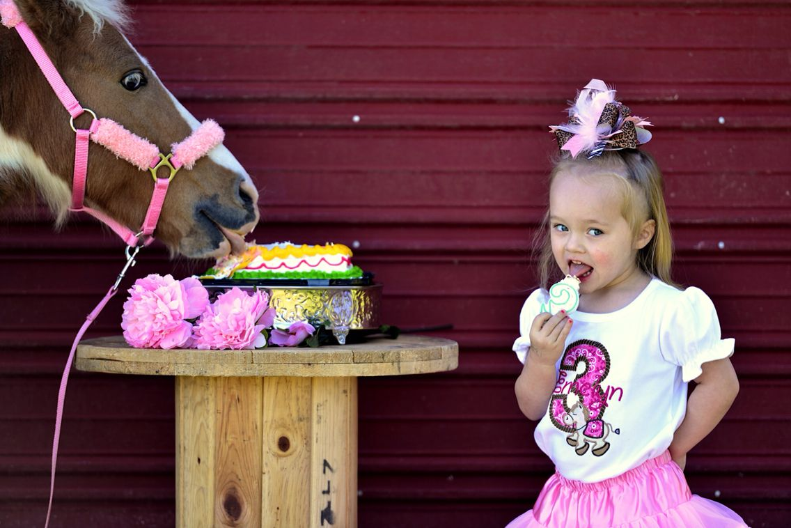 Birthday fun...a girl and her pony