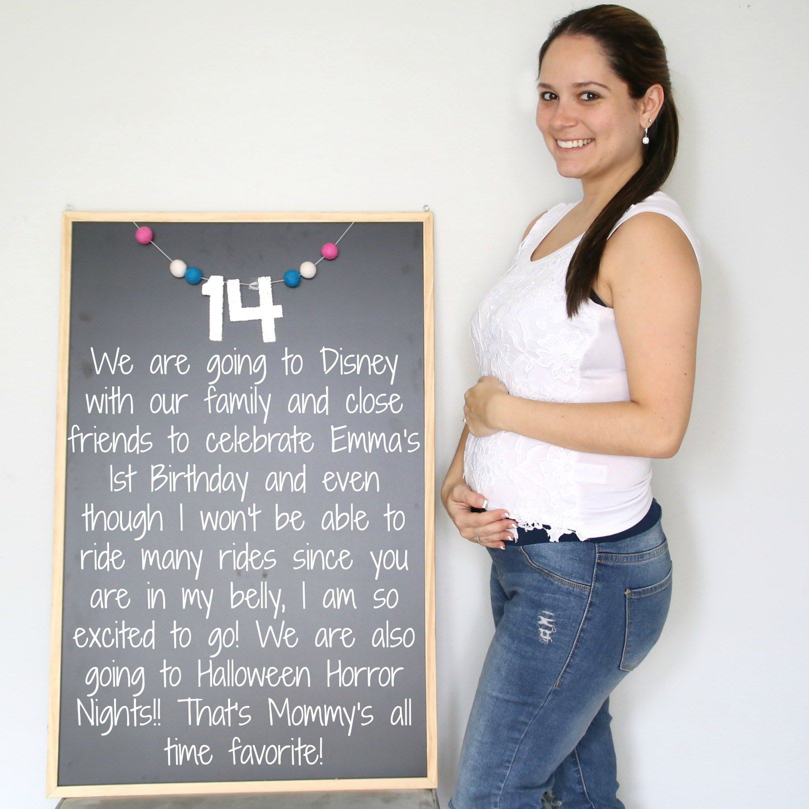 14 Weeks Baby Bump, Bump, Chalkboard, Chalkboard Pregnancy