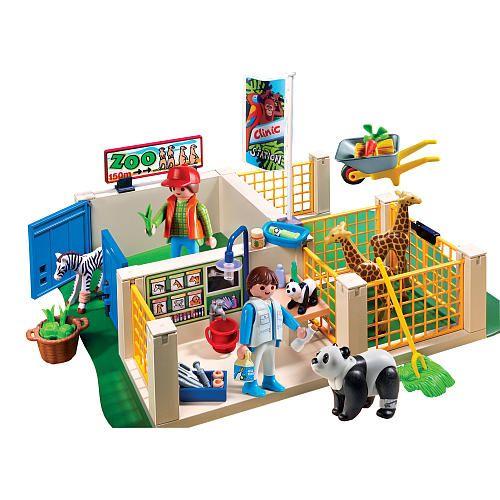 Playmobil super set animal care station playmobil toys for Toys r us piscine