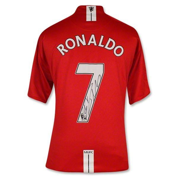 71c486589 Signed Cristiano Ronaldo Manchester United 07 08 Home Jersey