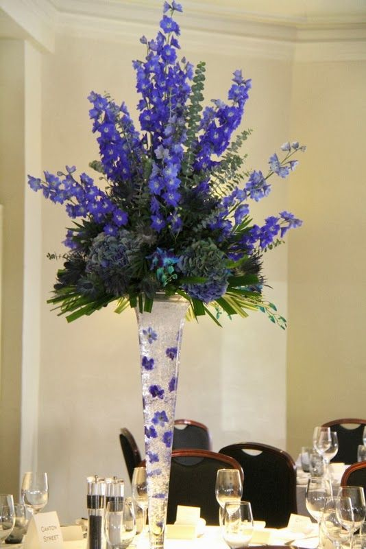 Blue delphiniums flower arrangements bouquets