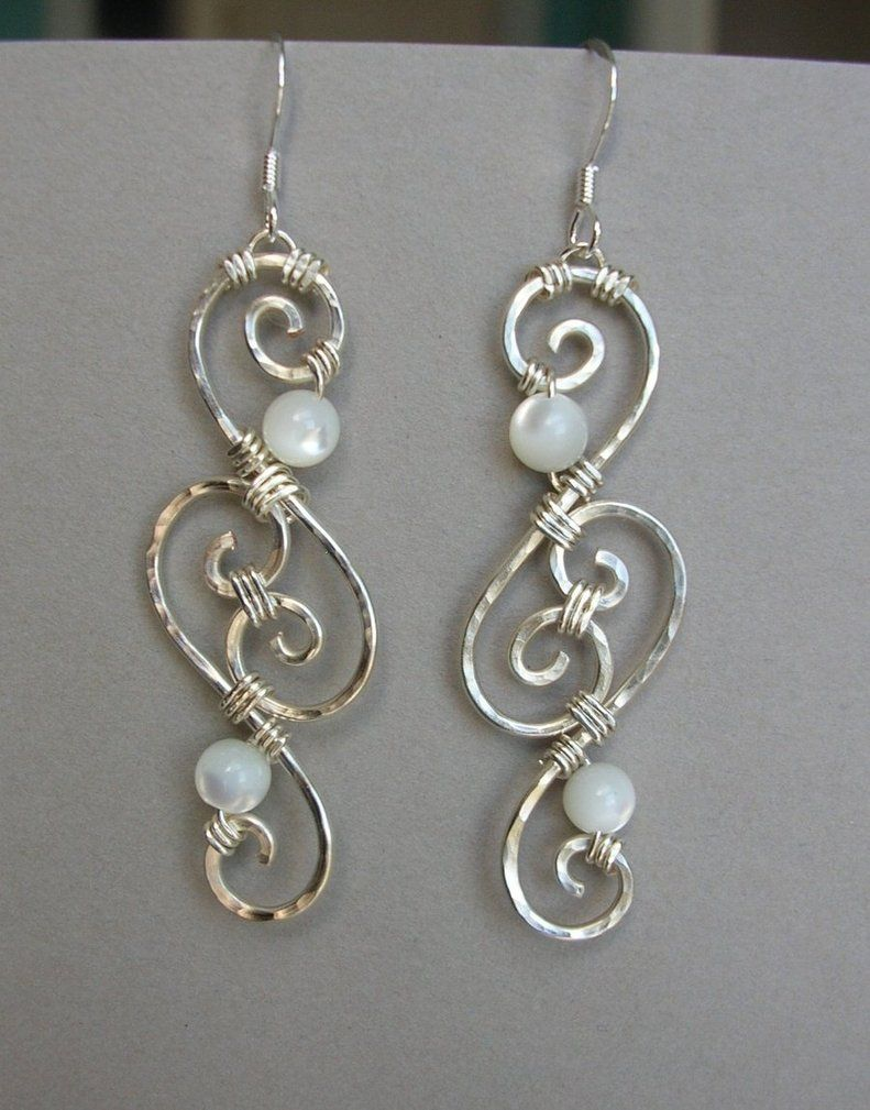 Silver Wire Earrings By Arianhwyvar On Deviantart