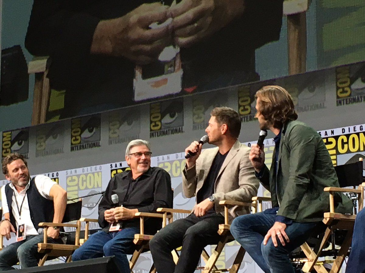 "stephanie on Twitter: ""Dean would just shoot the devil spawn in the face 🤣 and Sam more nurturing #SupernaturalSDCC https://t.co/vwGBaFzIZi"""