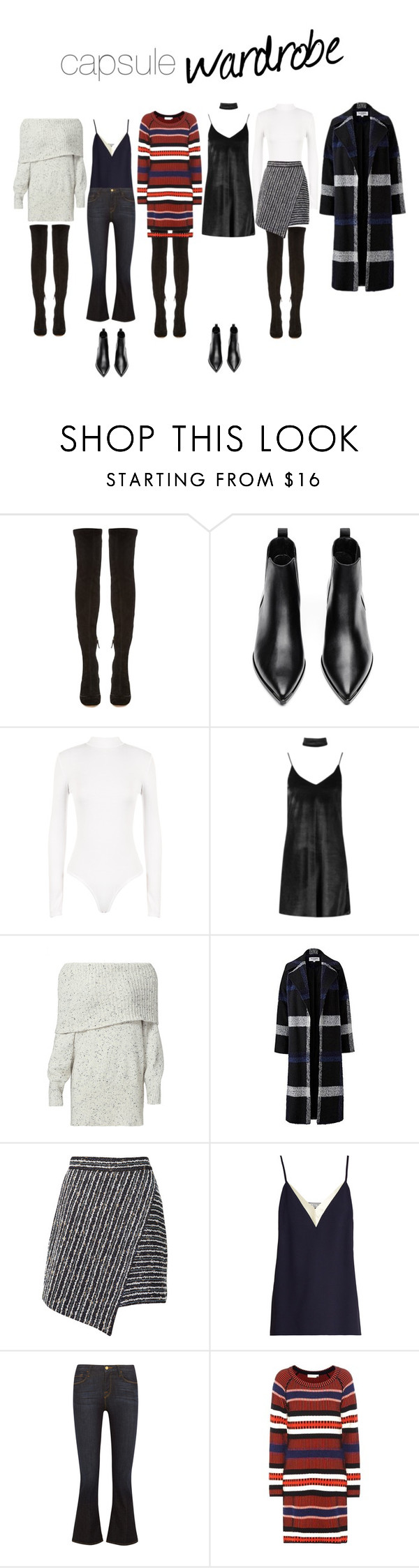 """""""NY2017 Capsule Wardrobe"""" by evefg85 on Polyvore featuring Nicholas Kirkwood, Acne Studios, WearAll, Boohoo, Joie, Helene Berman, Marco de Vincenzo, Lanvin, Frame and Tory Burch"""