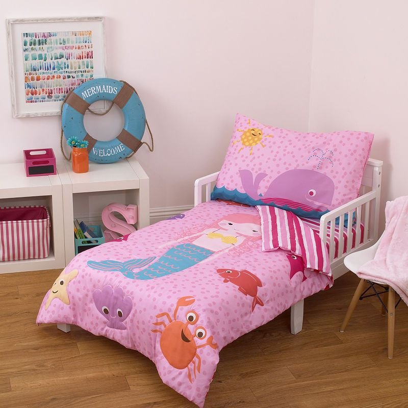 Little Tikes Mermaid 4 Pc Toddler Bedding Set Toddler Bed Set Mermaid Toddler Bedding Toddler Bed