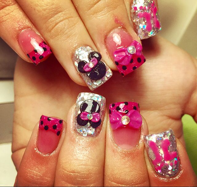 Mimi mouse nails | Nails | Pinterest