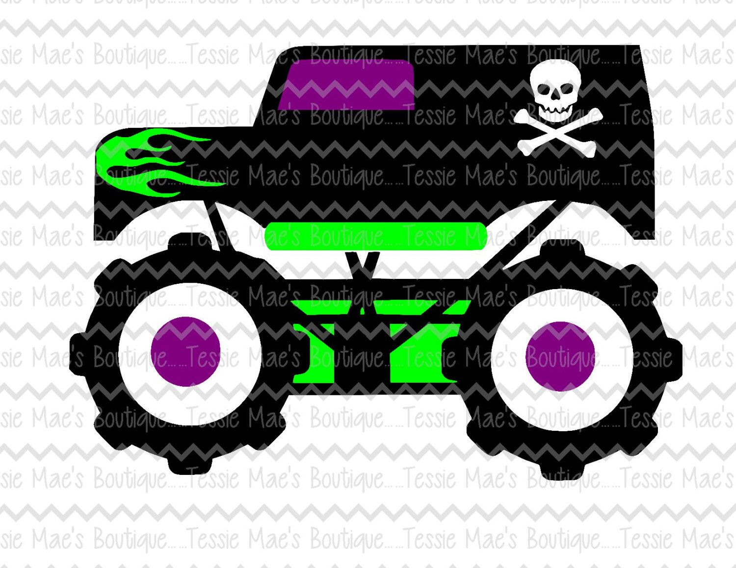 Monster Truck, SVG, DXF, EPS, Png Cutting File, Cuttable