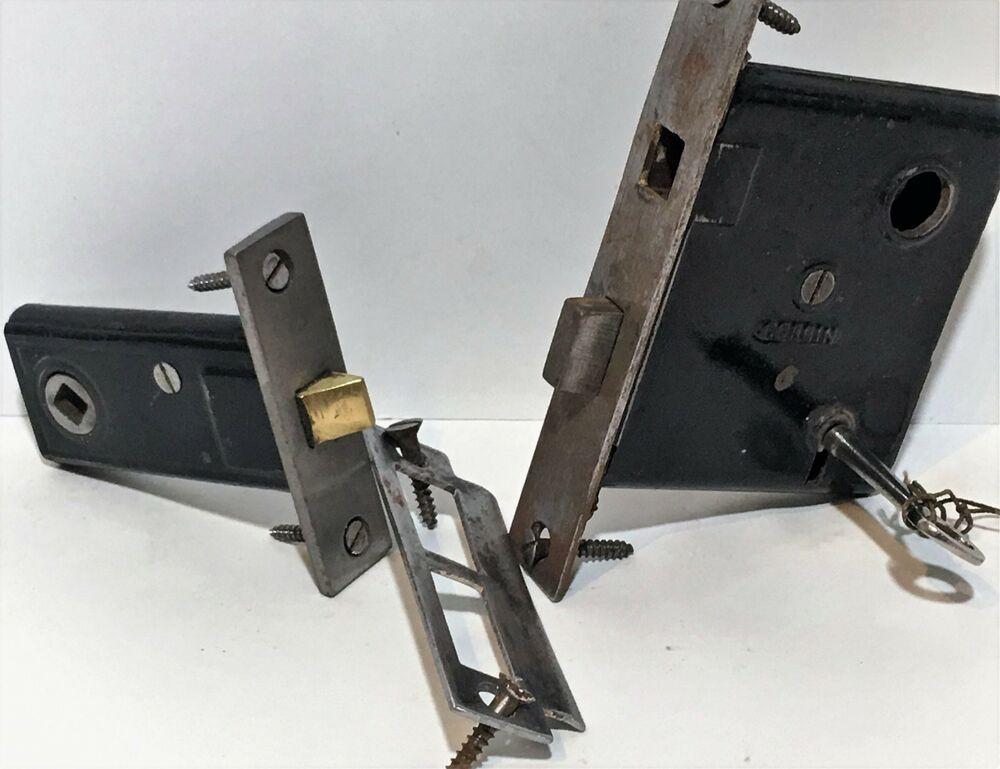 Antique Corbin Door Lock And Passive Mortise Lock Set With Key C1860 S Corbin In 2020 Mortise Lock Lock Set Door Bolt Lock