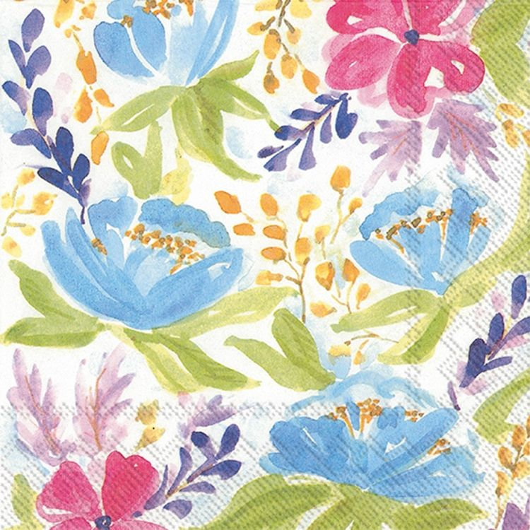 Flowers of Spring 20 Count Celebrate the Home Spring 3-Ply Paper Cocktail Napkins