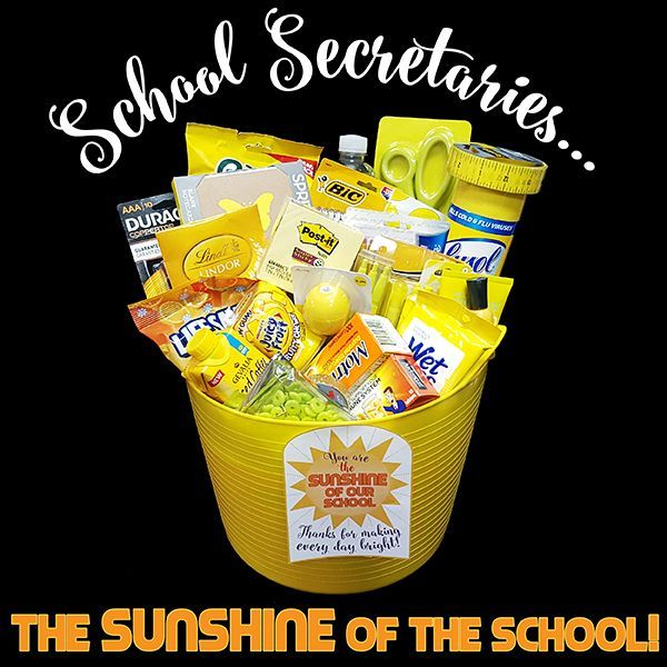 To all the school office goddesses who make our schools go round basket ideas negle Choice Image
