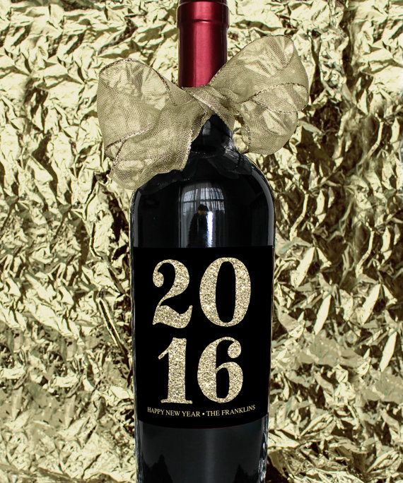 free printable wine new year label