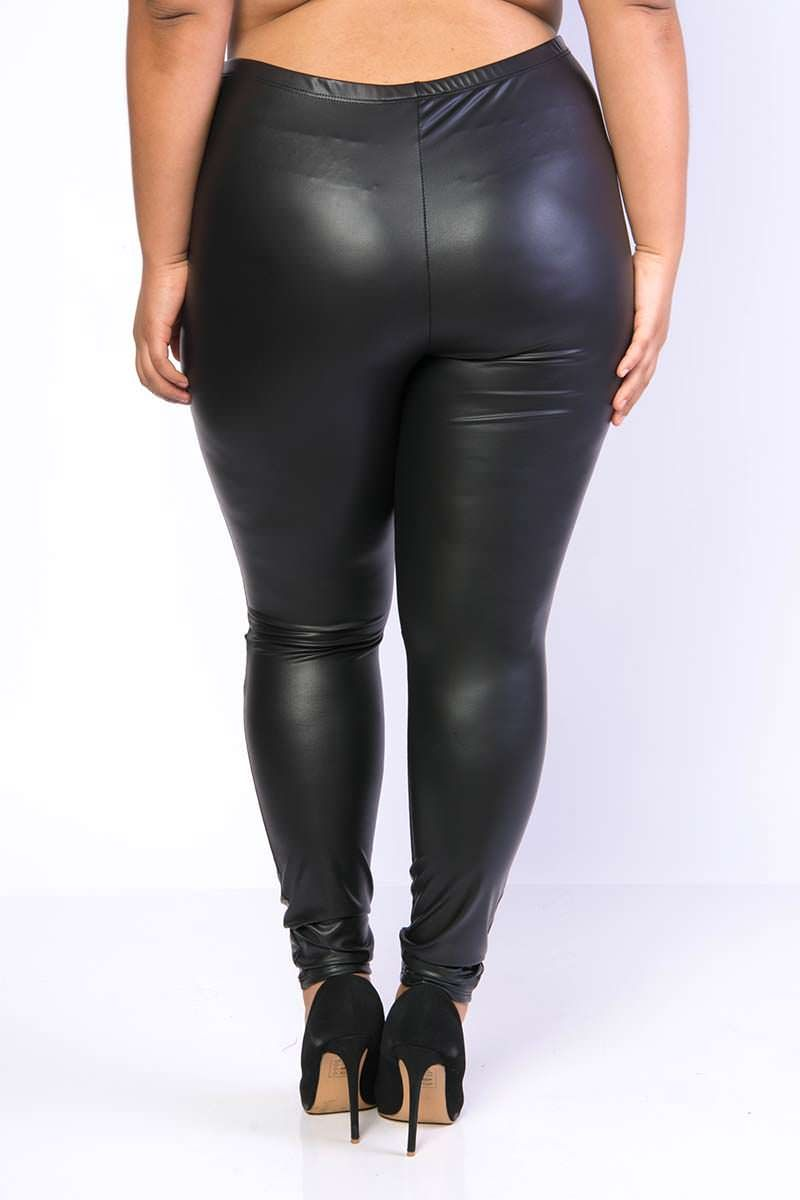 thick leather leggings
