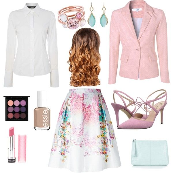 Cotton Candy by hyperducky on Polyvore featuring beauty, MAC Cosmetics, Revlon, Lipsy, Essie, Ted Baker, Alexis Bittar, Topshop, Oui and True Decadence