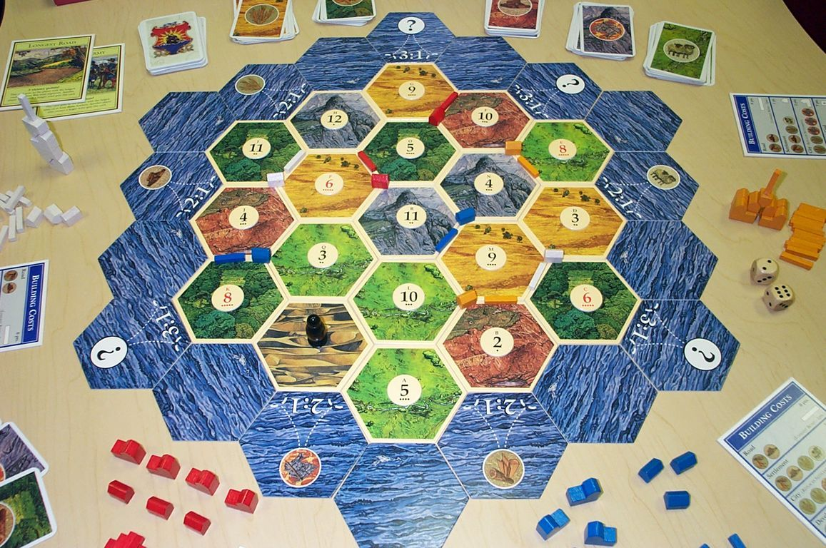 The Settlers of Catan Board Game Game tables, Old
