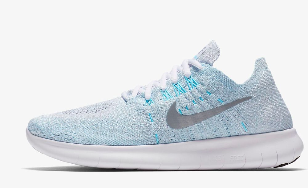 f1c0c3dfd7b7 Nike Free RN Flyknit 2017 Womens Running Shoes 7.5 Platinum Glacier 880844  012  Platinum  RunningShoes