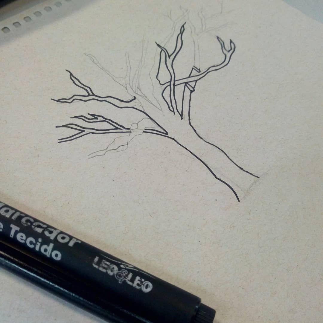 Art Desenhos Arvores Arvore Piloto Pretoebranco Balanco