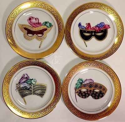4 Muirfield Magnificence Celebrity Mardi Gras Mask Plates - sold for 227.50 + 10.05 shipping 1-18-14 & Web Workshop (The Web Page Creator for Kids | Mardi gras