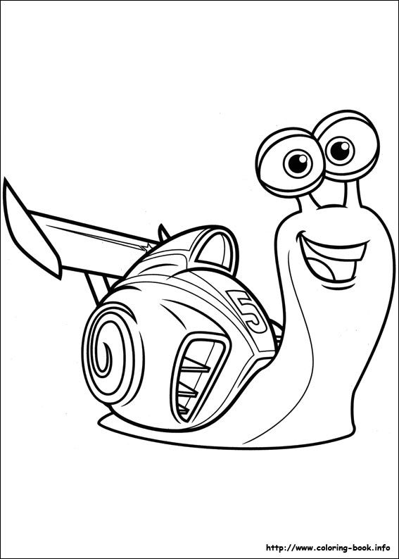 Turbo Coloring Picture
