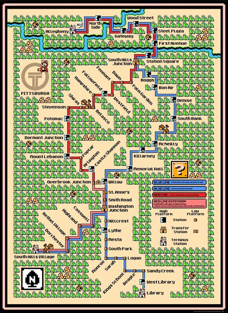 Mario Subway Maps – Quand les plans de métro s'inspirent des jeux vidéo