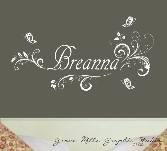 Girls Room Wall decal by GroveMillsGraphics on Etsy, $25.00