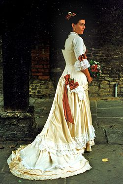 1870s Style Wedding Dress. Couture Wedding GownsVictorian EraPeriodWedding  ...