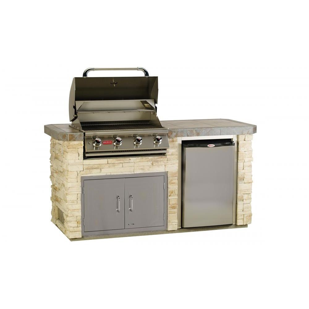 Bull Outdoor Products 31007 Golden Harvest Rock And Bombay Modesa Tile Power Q Island Angus 4 Bu Outdoor Kitchen Island Outdoor Kitchen Outdoor Kitchen Grill