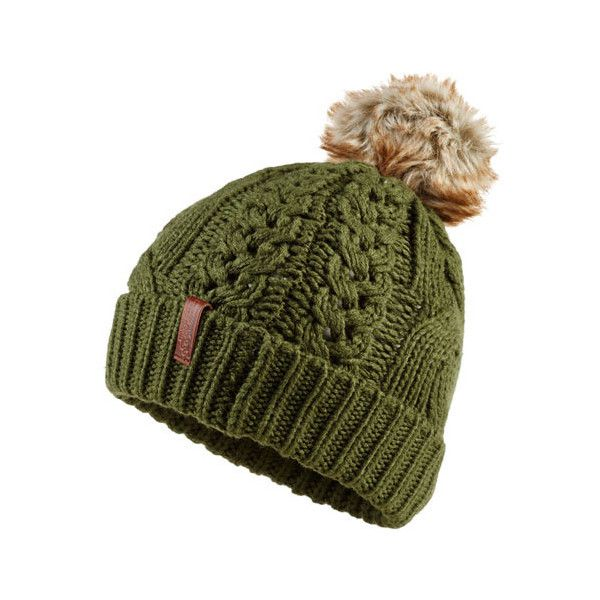 Superdry North Cable Bobble Hat (€17) ❤ liked on Polyvore featuring  accessories,
