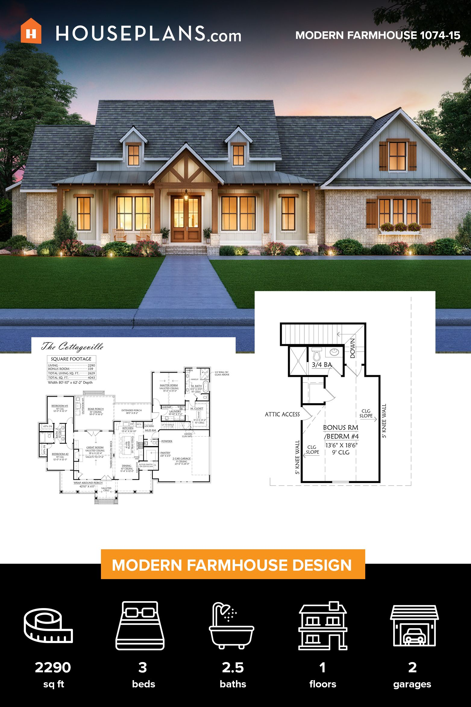 Modern Farmhouse Exterior Modern Farmhouse Plans Family House Plans Farmhouse Floor Plans