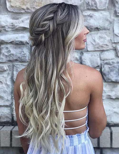 31 Incredible Half Up-Half Down Prom Hairstyles #promhair ...