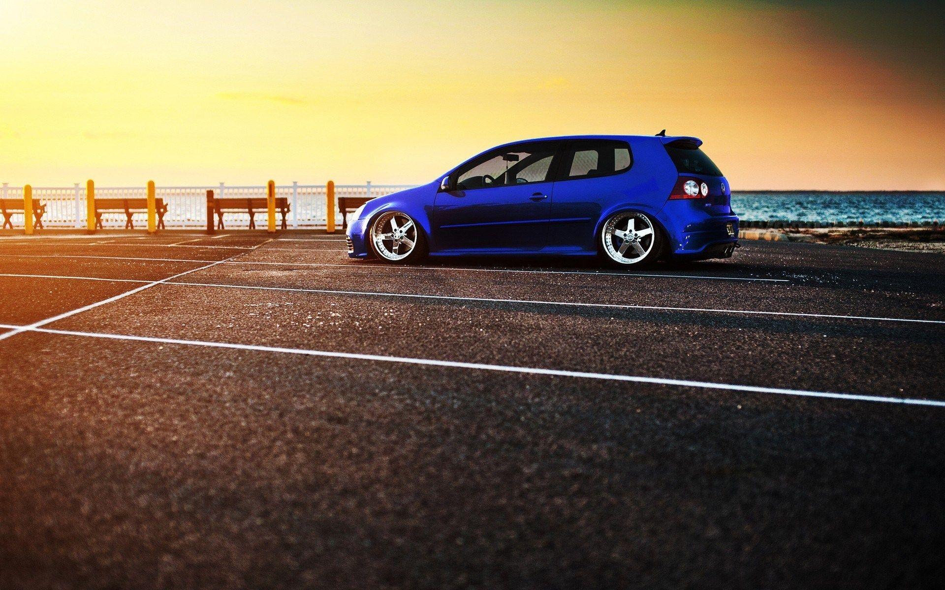 Golf V Volkswagen Sea Tuning Parking Lot HD Wallpaper