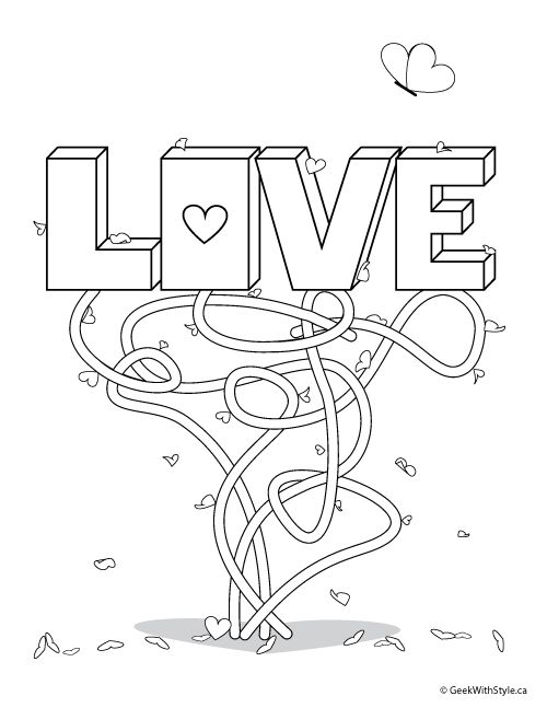 Free Printable Adult Colouring Sheets For Valentine S Day