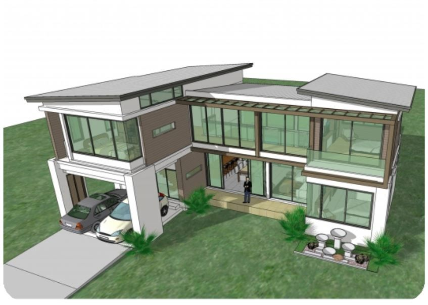 Home Design Plan 17x13m With 4 Bedroom House Plan Map Beautiful House Plans Two Story House Design Home Design Plan