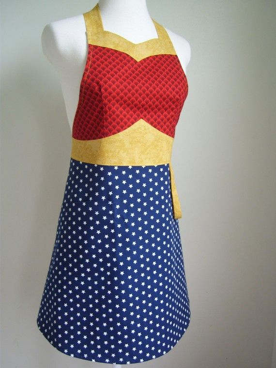 would totally wear a WONDER MOM apron.