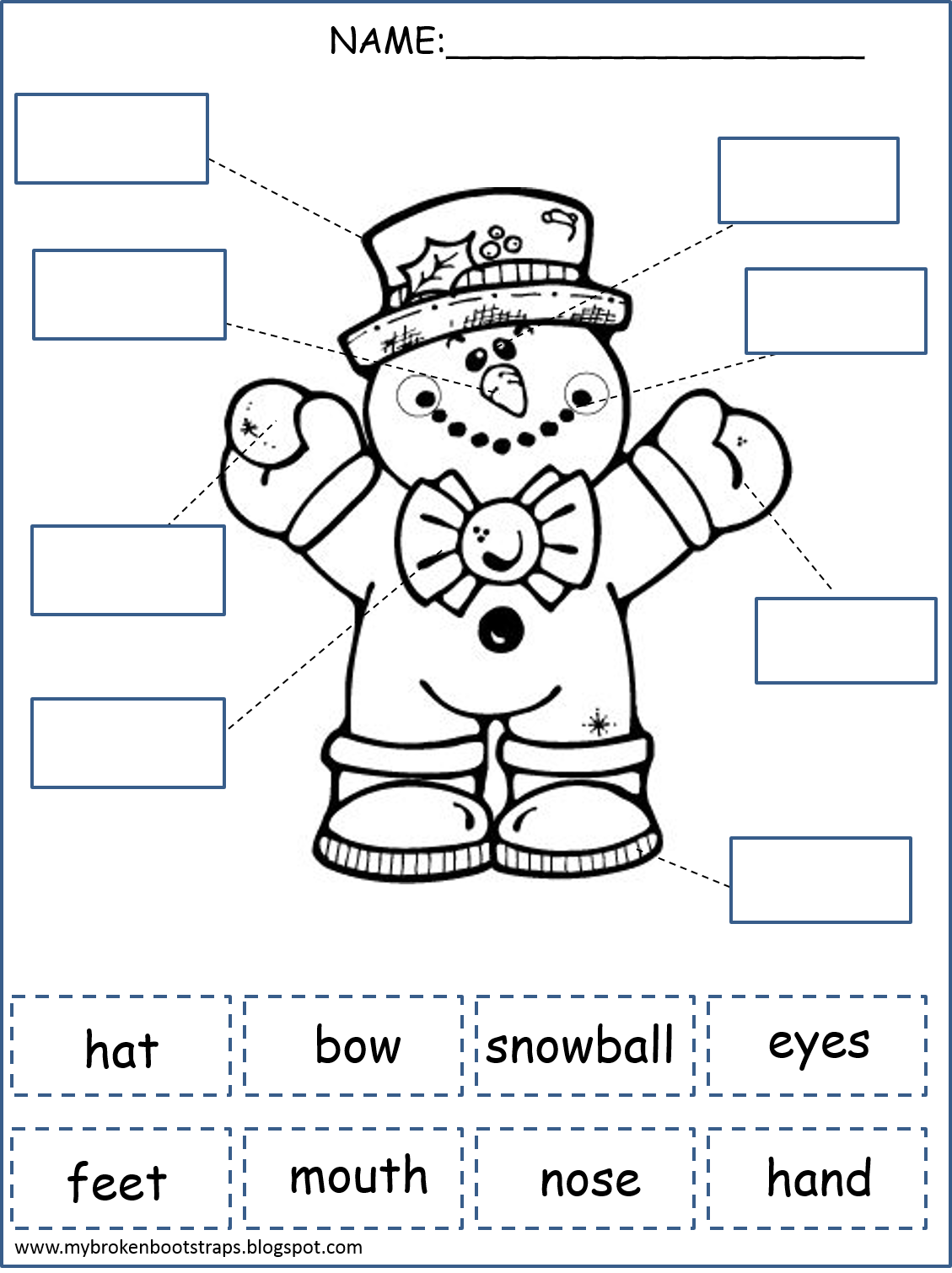 Winter Literacy Math Centers And Activities