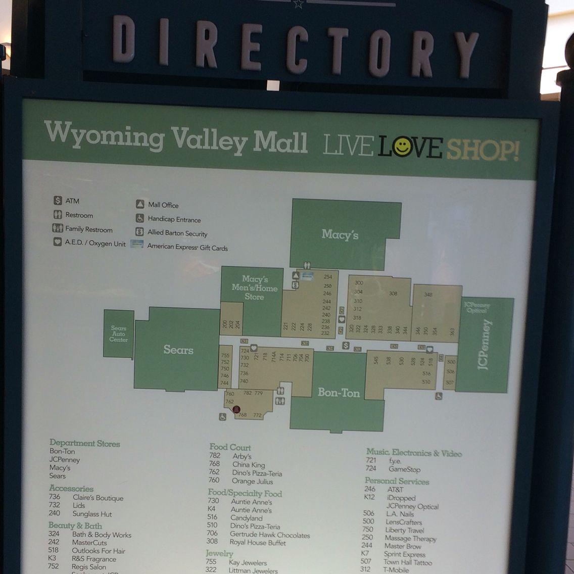 Wyoming Valley Mall Map Express Gifts Childhood Memories Wilkes Barre