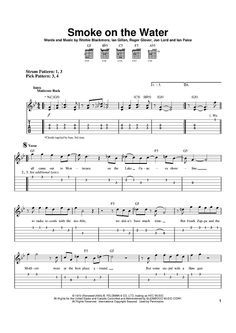Smoke On The Water Sheet Music By Deep Purple Easy Guitar