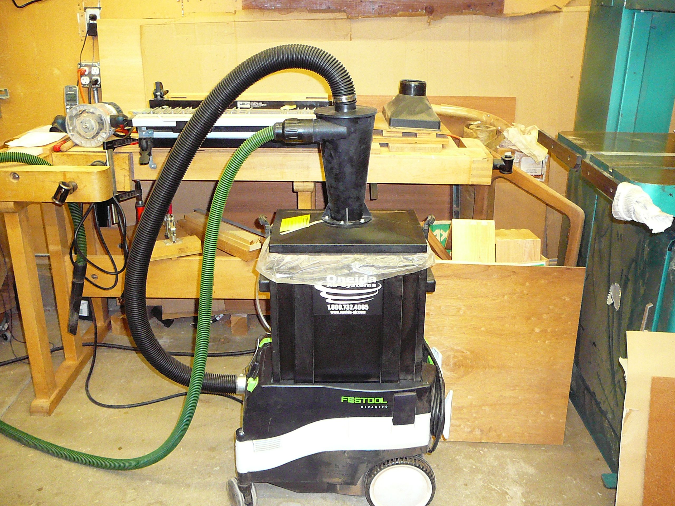 Ultimate Oneida Cyclone Dust Collector For Festool Vacs Festool Dust Collector Dust Collection System