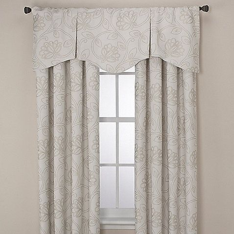 Superb Jacobean Rod Pocket/Back Tab Window Curtain Panels And Valance    BedBathandBeyond.com