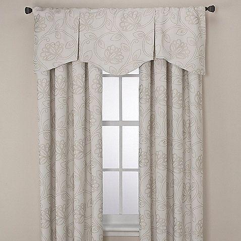 Jacobean Rod Pocket/Back Tab Window Curtain Panels and Valance ...