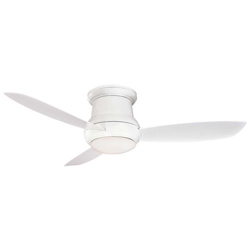 Minka aire concept ii white ceiling fan with light