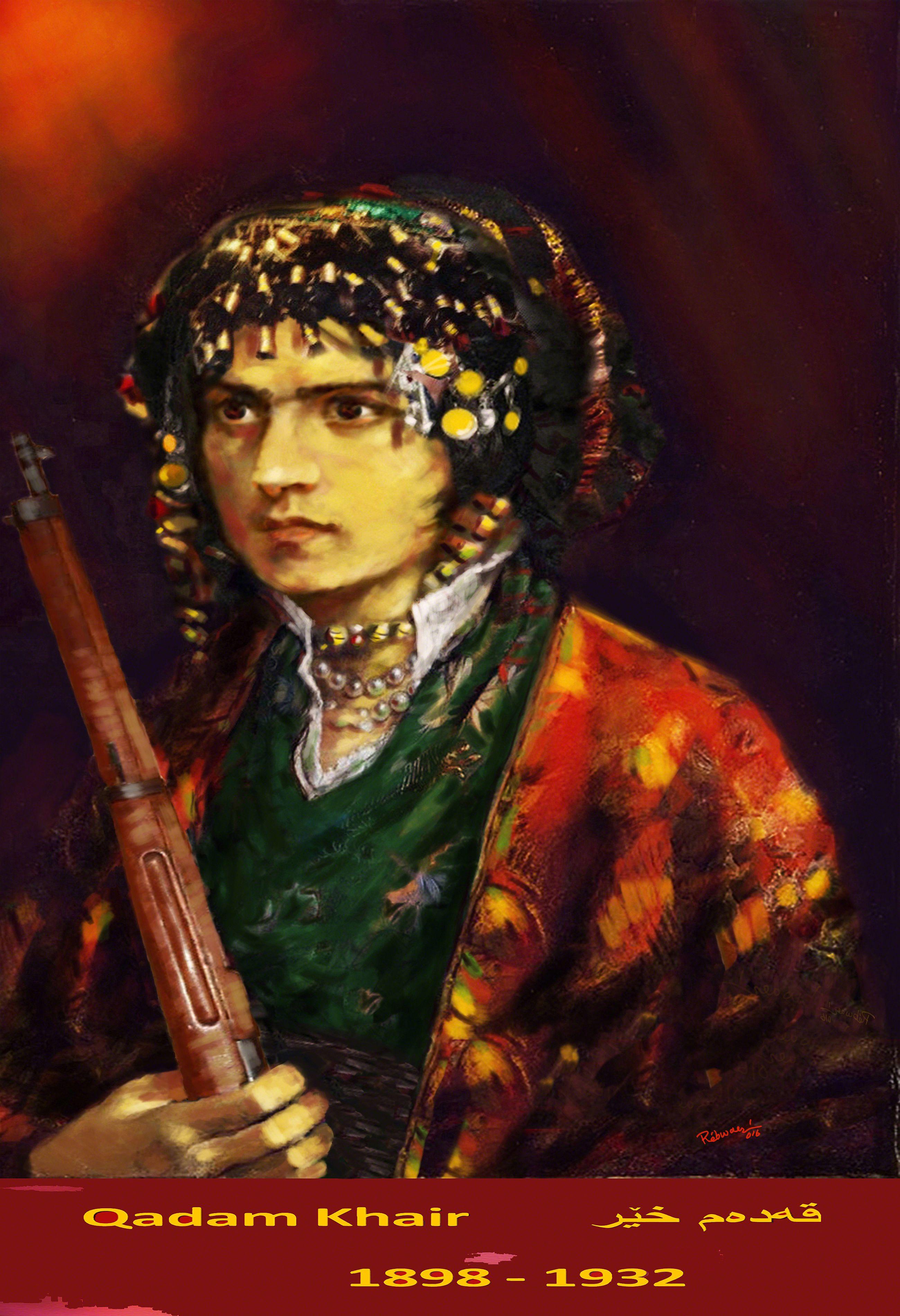 Qadam Khair,1898-1932, Kurdish revolutionary woman, a ...