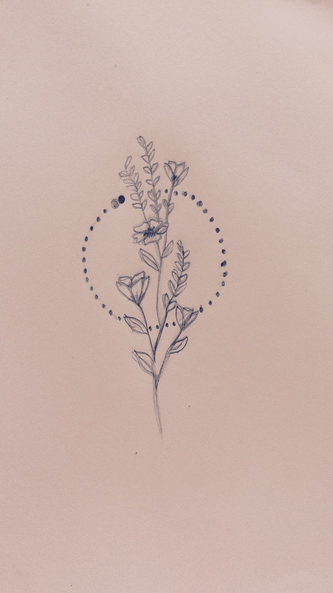 Minimalist Simple Flower Circle Tattoo: Thinking About Getting This One As My First Tattoo #tattoo