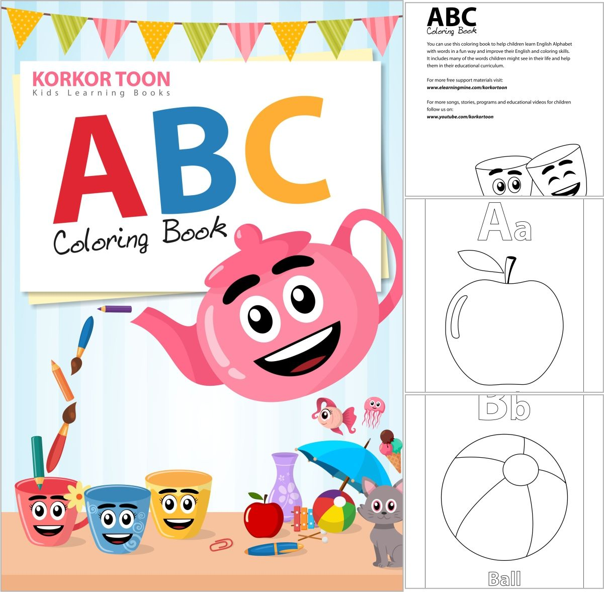 Abc Coloring Book For Kids Abc Coloring Coloring Books Kids Coloring Books