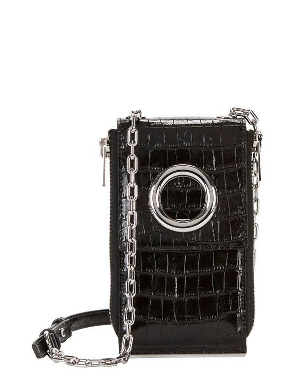 b4d543f4118 ALEXANDER WANG Riot Croc Embossed Leather Wallet Shoulder Bag.   alexanderwang  bag