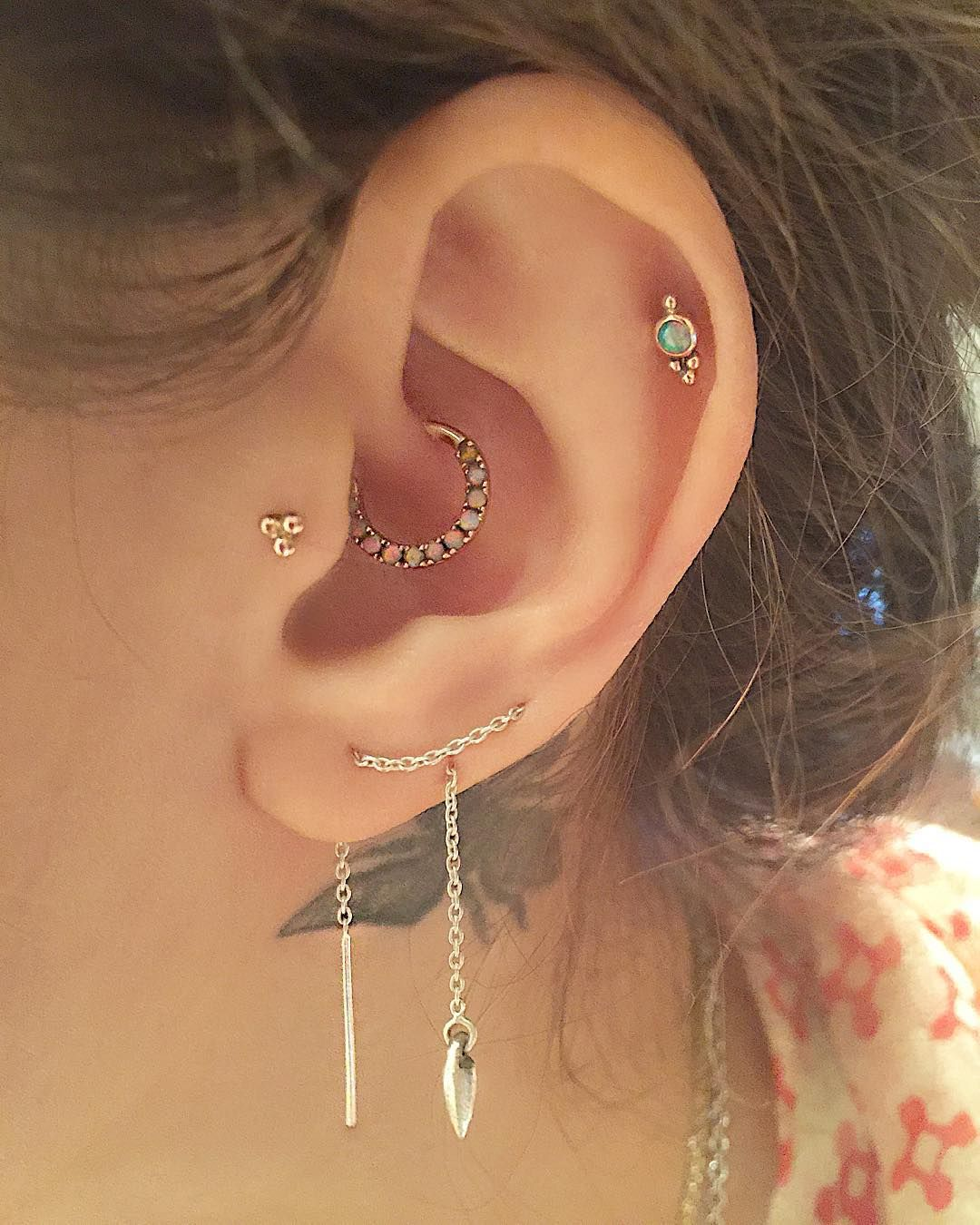Piercing jewelry names  Finding new ways to wear our ear threader for ss pamelalove