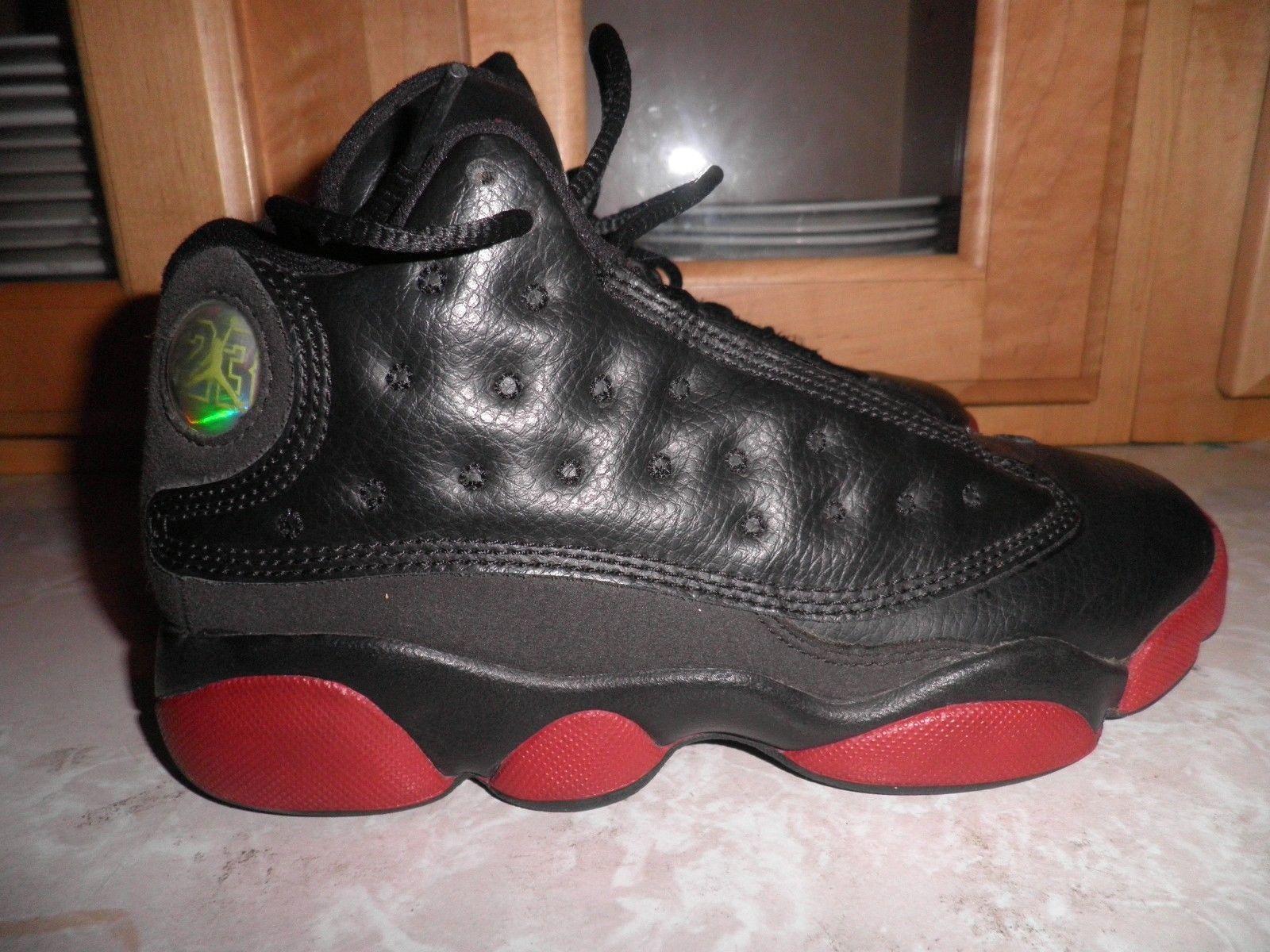 Boys Nike Air Jordan Retro 13 Shoes 414575-003 Size 1.5 Y Black/Red