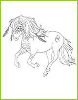 Coloriage De Cheval Avec Des Ailes.Coloriage De Chevaux Du Monde Magique Coloriages Sketches
