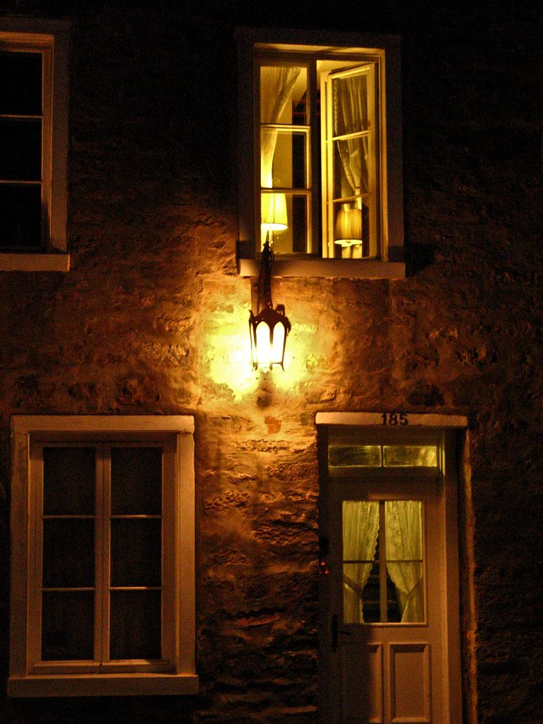Looking through night windows.....Put A Light in the Window ...